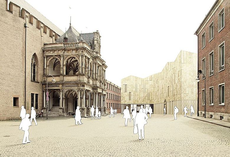 Archäologische Zone: Jüdisches Museum Köln (Bauplanung). Bild: Archäologische Zone Köln (CC)