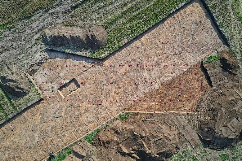 Bronzezeitlicher Hausgrundriss in Pömmelte