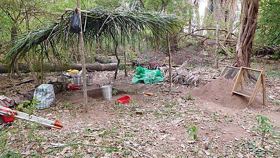 Einblick in die archäologische Ausgrabungsstätten im Südwesten des Amazonas