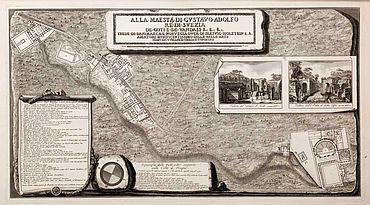 Abb. 1| Plan der Ausgrabungen in Pompeji, Francesco Piranesi, 1792. © Württembergische Landesbibliothek Stuttgart