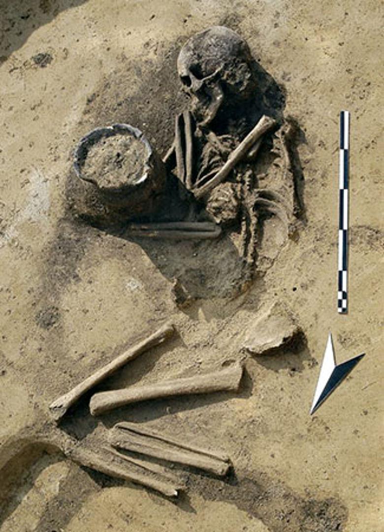 Bronzezeitliche Hockerbestattung