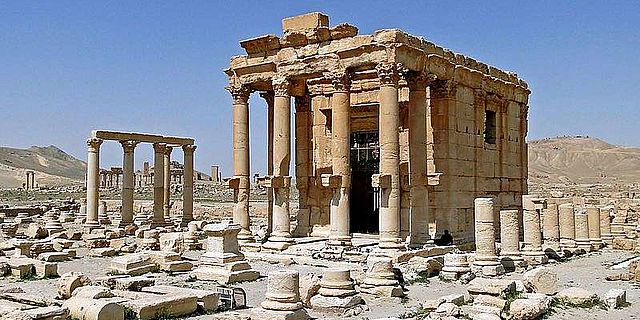 Baal-Shamin-Tempel von Palmyra im Jahr 2010