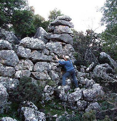 Abb. 4| Die höchste der bekannten minoischen altpalastzeitlichen Ruinen, Bereich Kritsa © S. Beckmann
