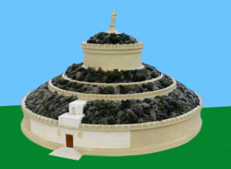 Modell des Augustus-Mausoleums