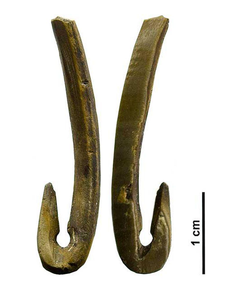 Neolithische Angelhaken