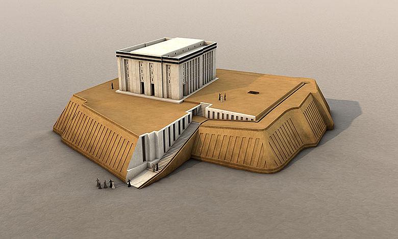 3D-Rekonstruktion Rech-Heiligtum