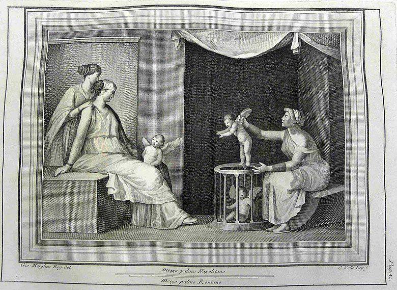 Abb. 6a| Die Amorettenhändlerin aus den Antichità di Ercolano esposte, Band III, Tafel 7 © LDA Sachsen-Anhalt