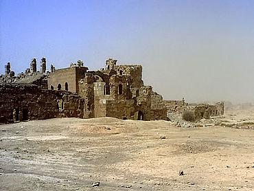 Resafa: Blick auf die Basilika A