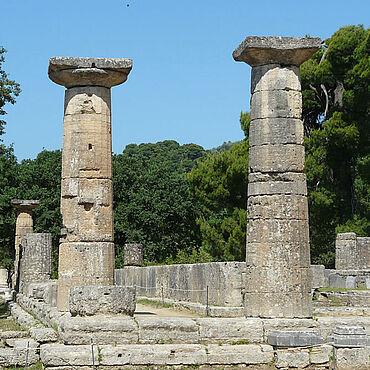 Blick in das Heiligtum von Olympia
