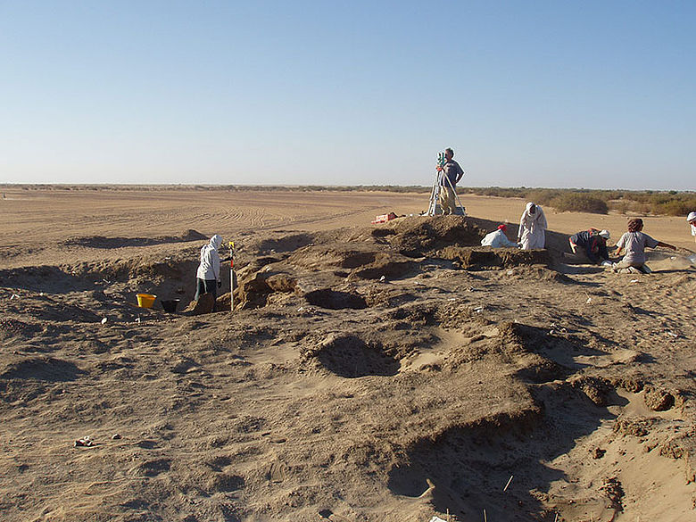 Ausgrabung im Sudan