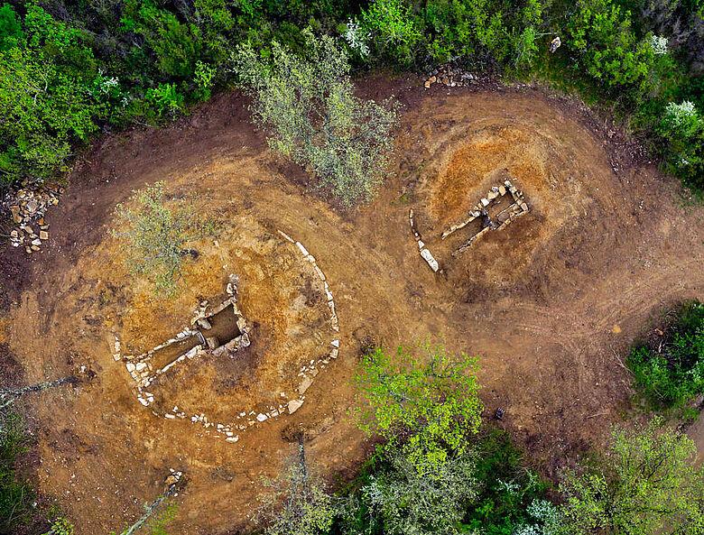 Etruskische Gräber