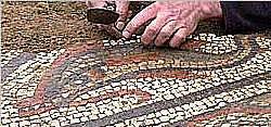 Bei Bauarbeiten in Großbritannien entdeckt: Ein großes römisches Mosaik