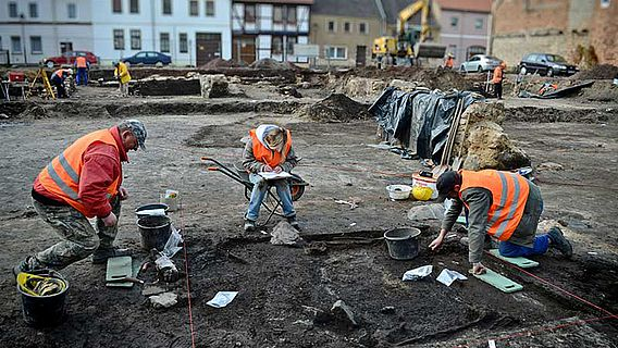 Ausgrabung in Haldensleben