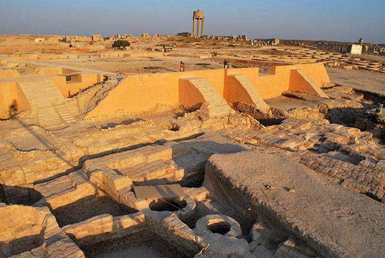 Der Grabungsbereich des Königspalastes von Qatna, Zustand 2009