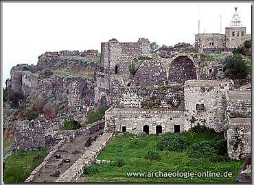 Qal'at Marqab. Blick vom Donjon im Süden auf die Kernburg