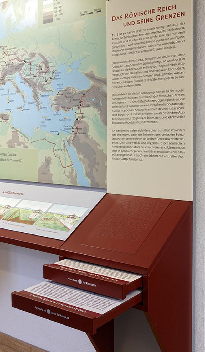Raumsparendes Ausstellungselement