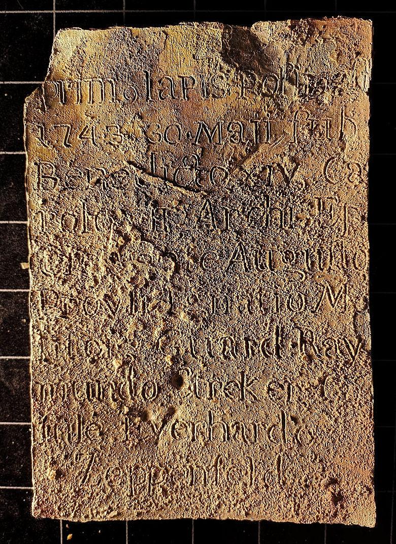 Bleitafel mit Inschrift