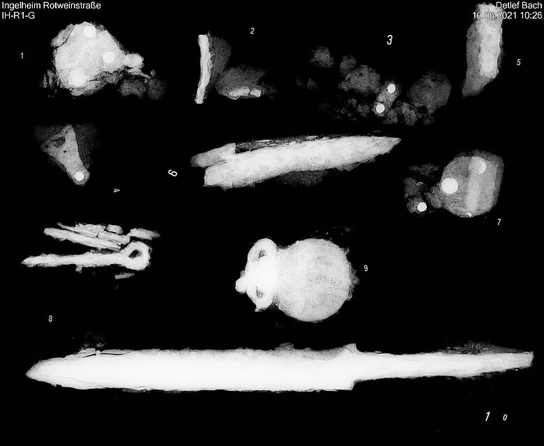 Röntgenbild Grabbeigaben