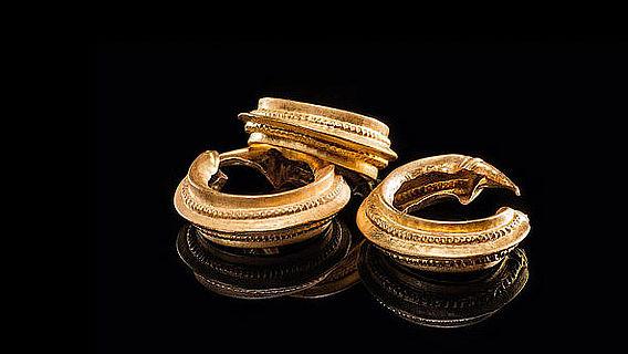 Goldringe aus Keltengrab