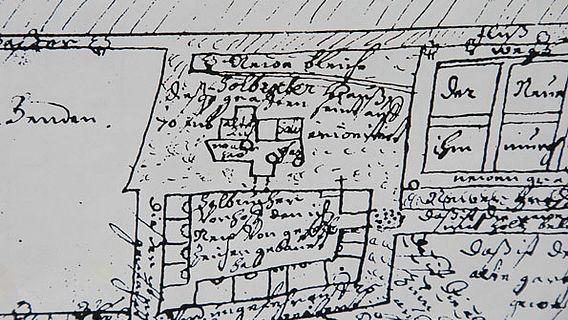 Karte aus dem Jahr 1660