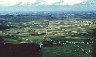 Verlauf des raetischen Limes bei Burgsalach