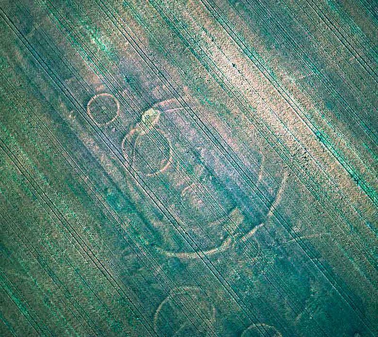 Luftbild der Kreisgrabenanlage von Schönebeck.