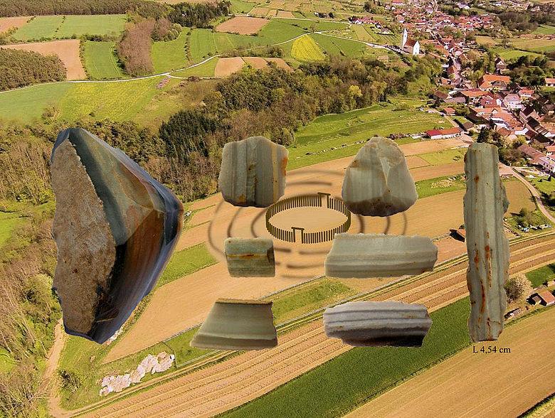 Kreisgrabenanlage von Schiltern, Arnhofener Plattenhornsteine