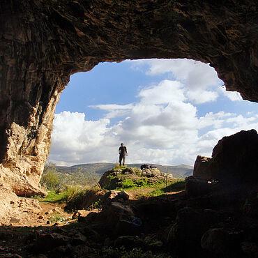 Eingang der Shukbah-Höhle