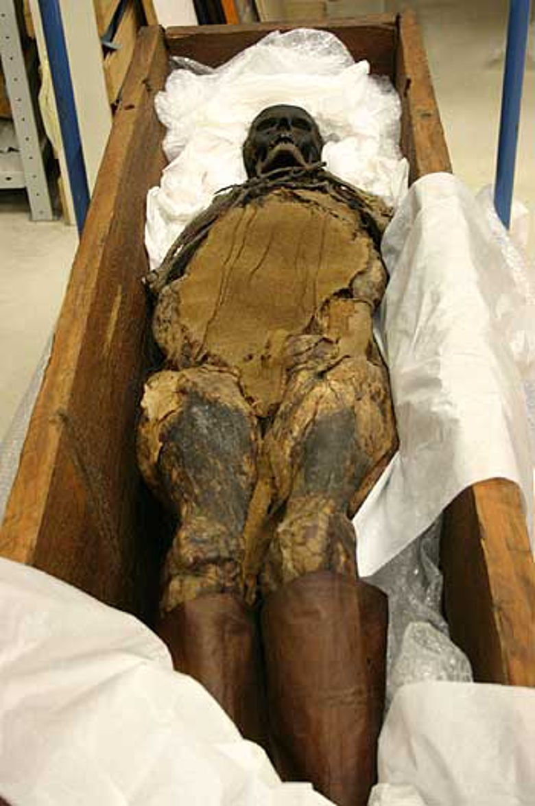 Die knapp 1.000 Jahre alte 'Frau von Peiting'. (Foto: LWL)