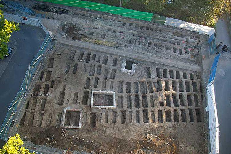 Übersicht über das Grabungsgelände.