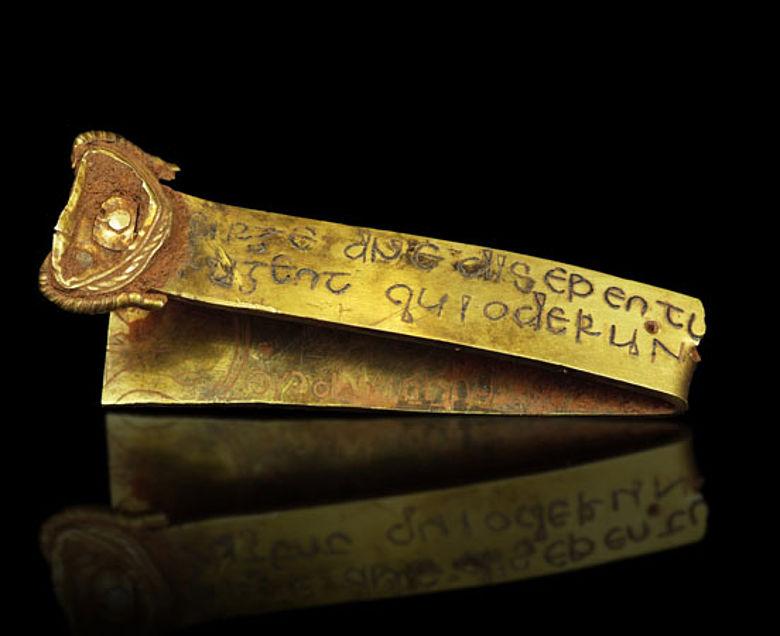 Goldband mit Inschrift