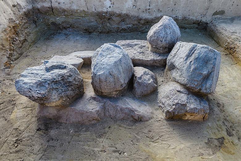 Bronzezeitliche Grababdeckung