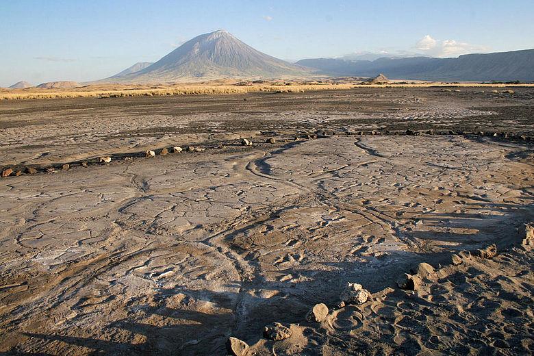 Die Fundstätte von Engare Sero mit menschlichen Fußabdrücken in Vulkanasche