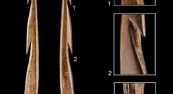 13.000 Jahre alten Fischspeerspitze aus Knochen