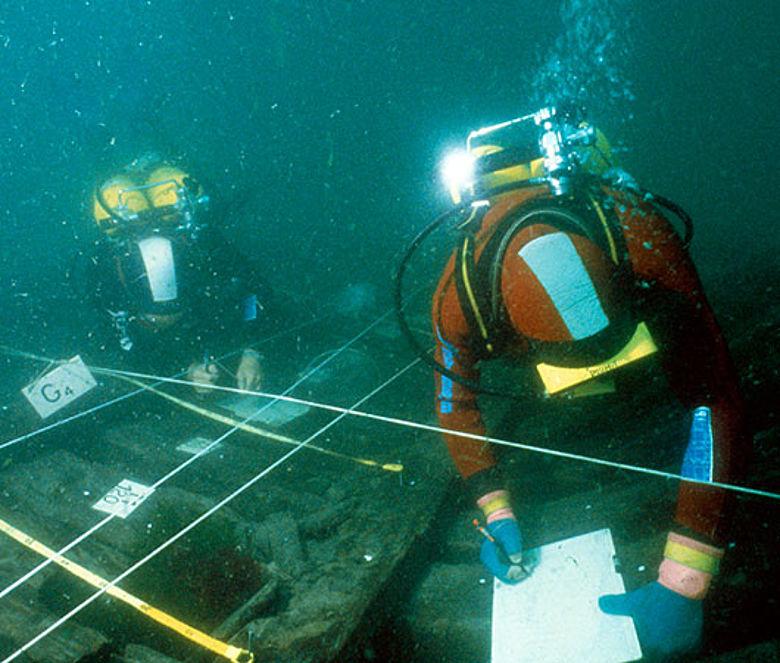 Unterwasser-Ausgrabung