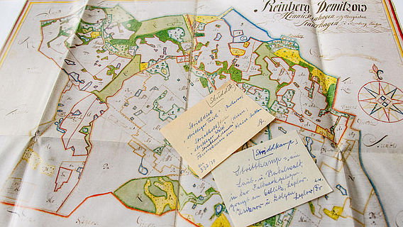 Flurkarte und Zettel