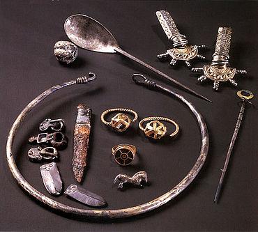 Funde aus dem Grab der Dame von Mahlberg