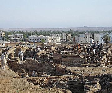 Ausgrabung in Saudi Arabien