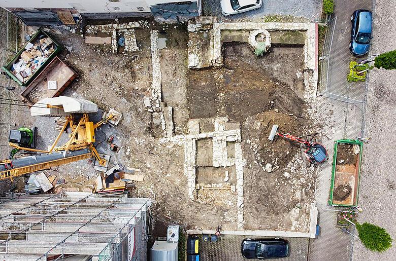 Grabungsgelände Luftbild