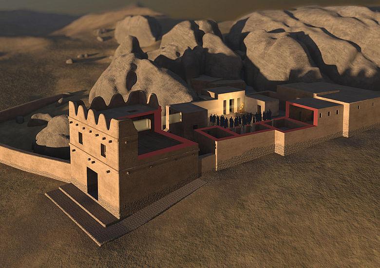 3D-Visualisierung des Torhauses in Yazılıkaya