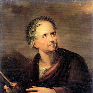 Gerdt Hardorff: Friedrich Gottlieb Klopstock als Barde. 1790 Öl auf Leinwand (Versailles, Musée National du Château de Versailles, Galérie Historique)