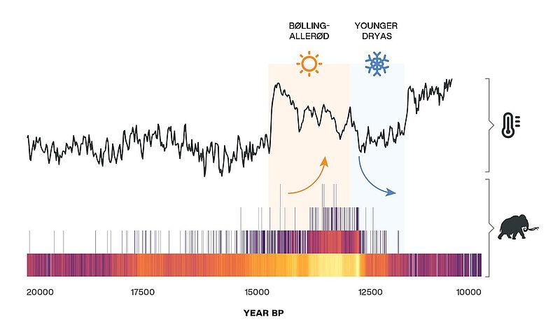 Diagramm Klimaereignis Jüngere Dryas
