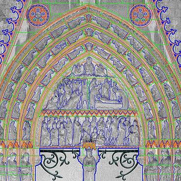 CAD-Umzeichnung Portal Notre Dame