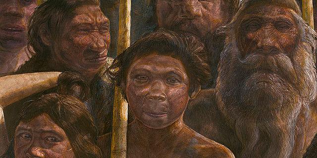 Homo heidelbergensis Lebensbild