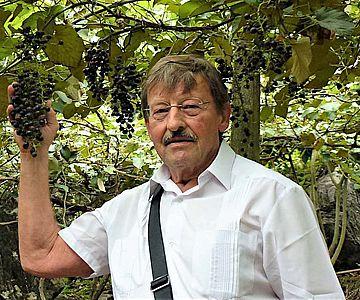 Prof. Dr. Peter Kupfer von der JGU in einer Wildrebenanpflanzung in Südchina