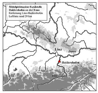 Die Fundstelle von Haidershofen an der Enns, Niederösterreich (Grafik: A. Binsteiner)