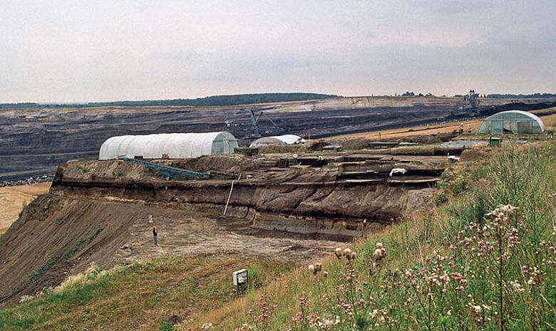 Ausgrabung im Tagebau Schöningen