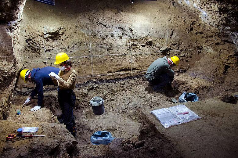 Ausgrabung 2021 in der Bacho-Kiro-Höhle