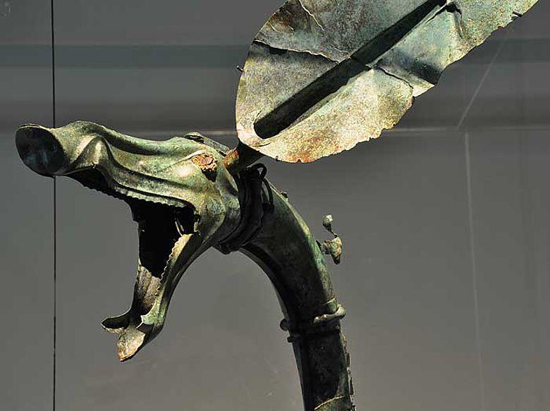 """""""Carnyx"""", eine Kriegstrompete aus der Zeit um 150 v. Chr."""