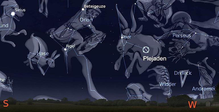 Sternenhimmel am 1.1.3000 v. Chr.